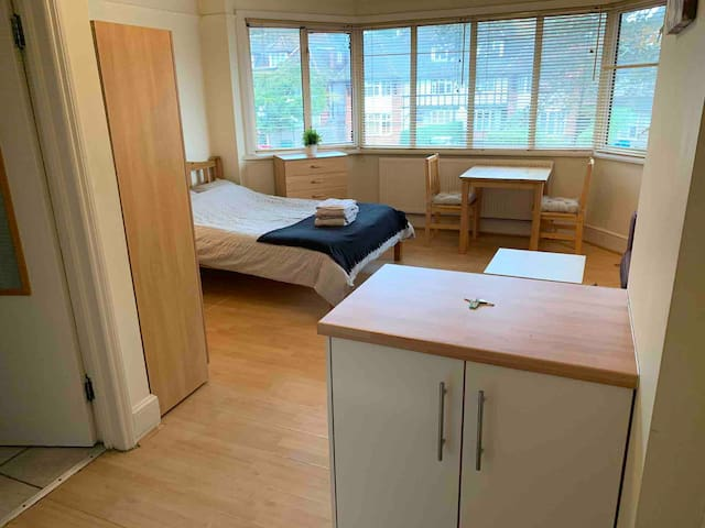 Flat 6, Spacious Double Studio in Golders Green