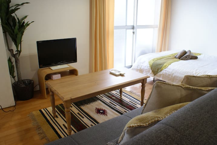 No Charge/Direct to KIX/2mins to Namba+WIFI 8PAX - Naniwa-ku, Ōsaka-shi - Apartment