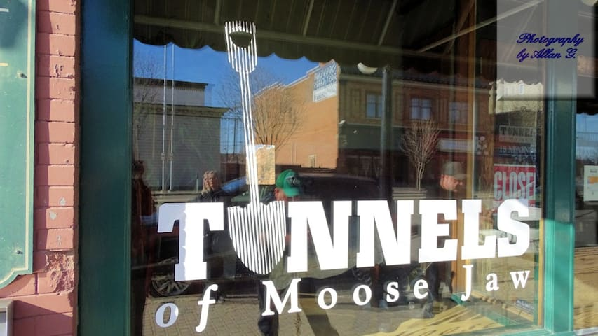 Take a tour in the Tunnels of Moose Jaw! Walking distance from the suite!