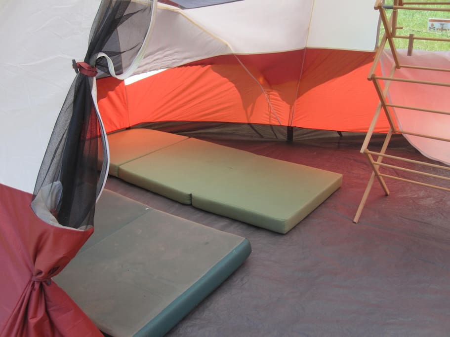 Fold n goes for your sleeping bags - plus clothes rack