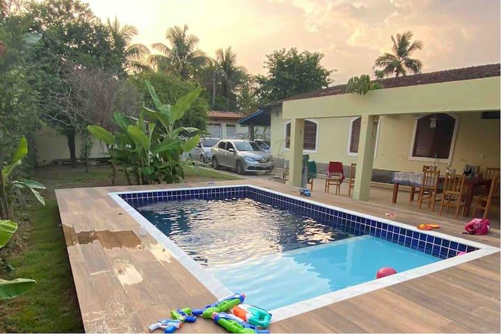 São Lourenço: piscina, ar, sauna, ao lado da praia
