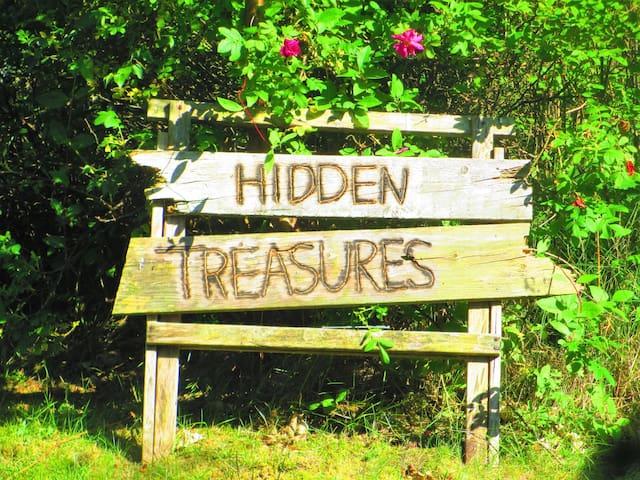 idyllisches Haus versteckt in einem üppigen Garten