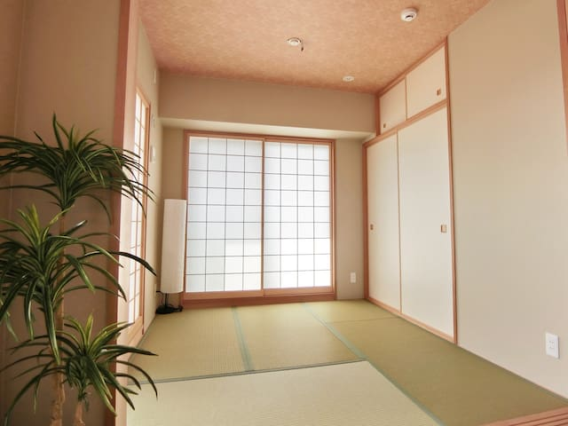 Bedroom-3, traditional japanese tatami room.