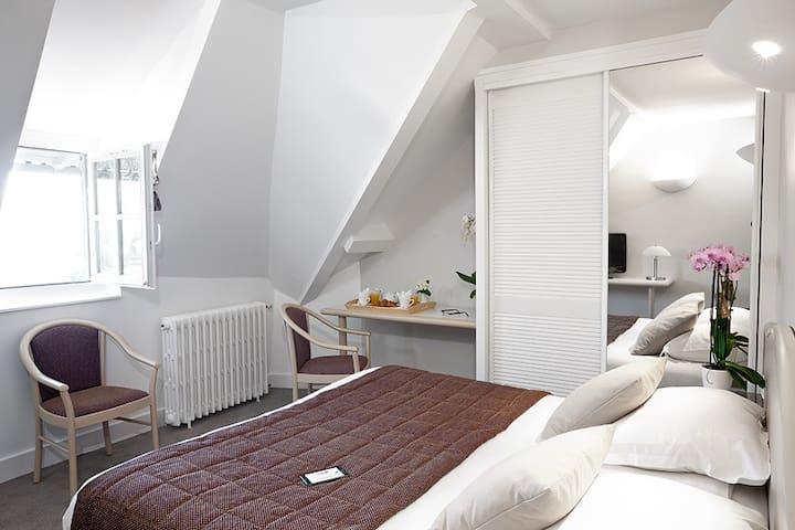 Chambre climatisée avec vue au coeur de Vichy