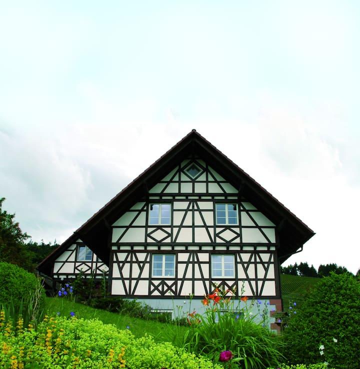 Urlaub auf dem Weingut - im Fachwerkhaus (OG)