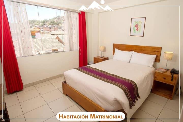 Habitación con cama doble, desayuno incluido