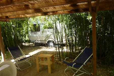 Comfortable camping in a green and large garden - Lido di Camaiore - Дом на колесах