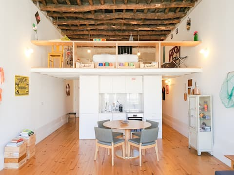 Loft full of personality in the best place in town