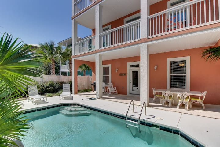 Spacious, dog-friendly house w/ private pool - just one block from the beach!