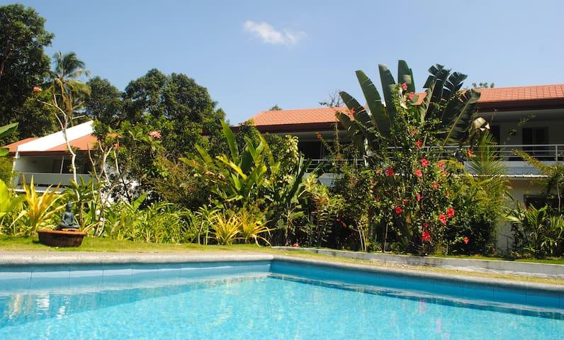 A2: Modern Cozy in Tropical garden w/swimming pool