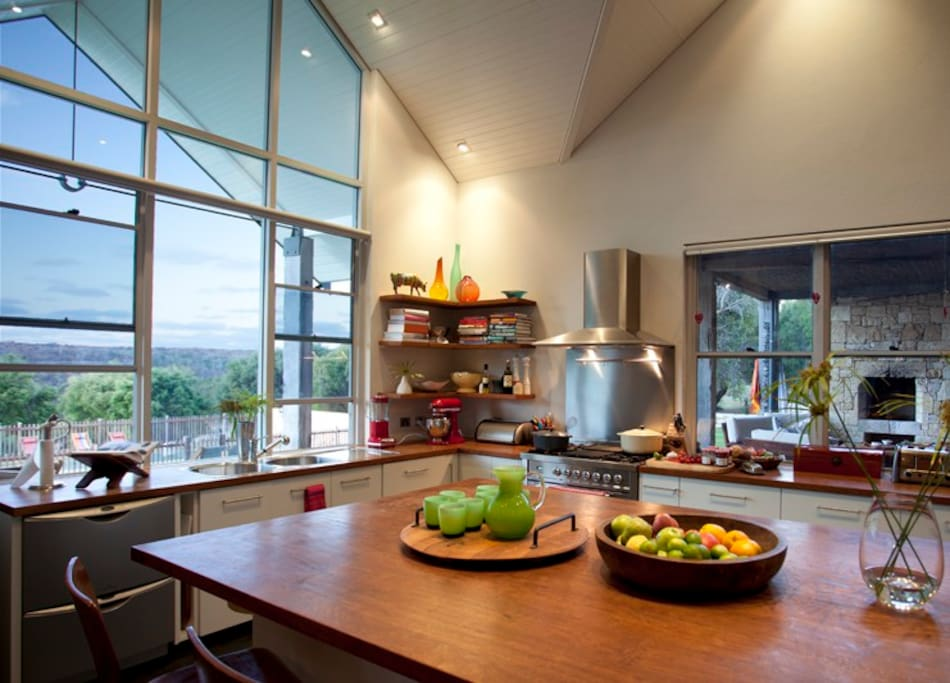 Kitchen with views to national park