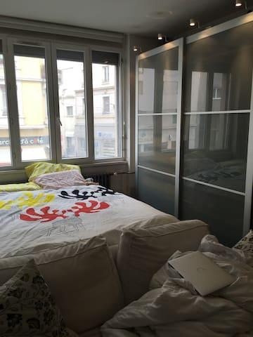 modern cozy studio 1 min to ligne A - Villeurbanne - Appartement en résidence