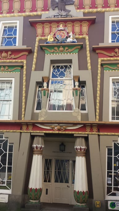 The magnificent Egyptian House in Chapel Street Penzance.  Penzance. Penzance is a stunning piece of architecture.