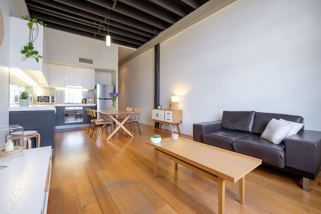 Furnished with elegant, stylish designer furniture and decor.