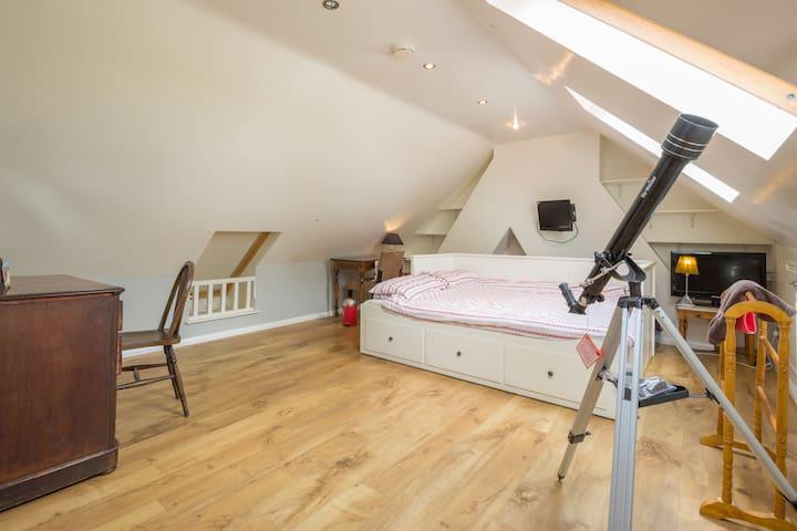 Spacious loft room & amazing views