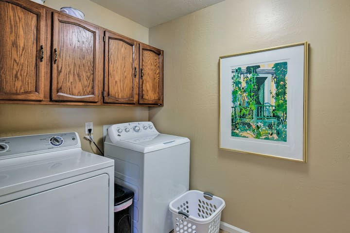 For extended stays, its simple to keep your laundry fresh.