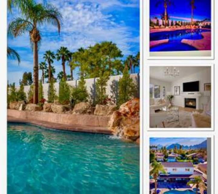 La Quinta beauty!Sleeps 16 w/Pool/spa/BBQ/firepit