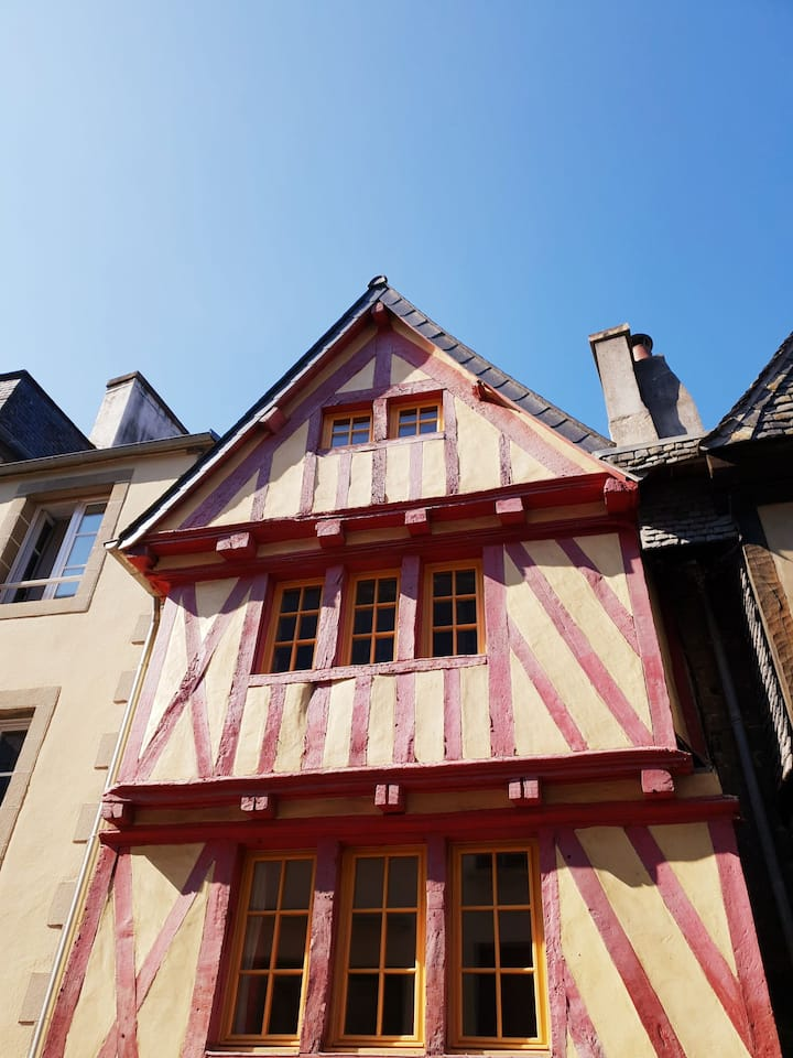 Traditional XV century half-timbered house