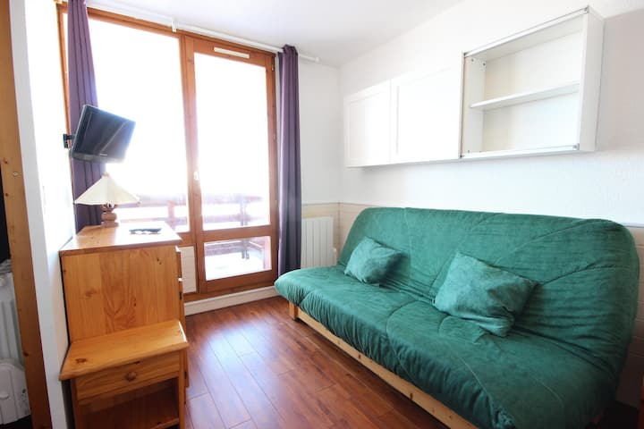 2 rooms apartment for 5 persons in Vallandry close to the pistes and the shops