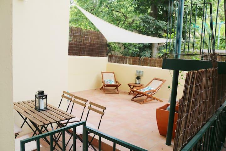 Sol ao Rio - Beautiful flat w/patio near Belém
