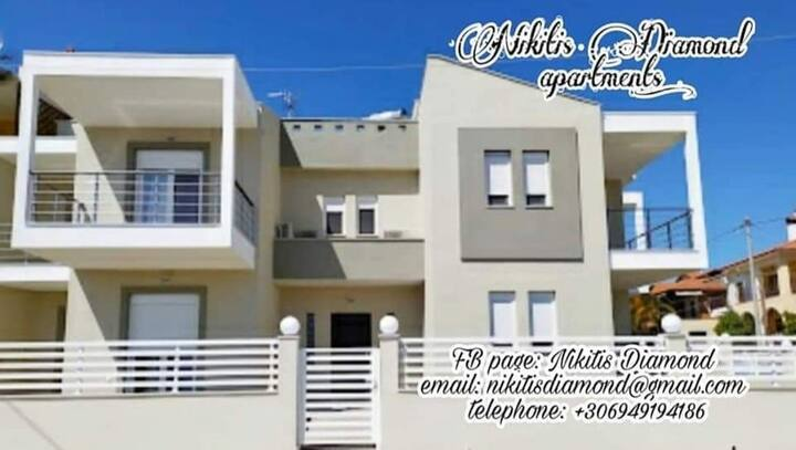 Nikiti's Diamond 3'new apartment near to the sea'