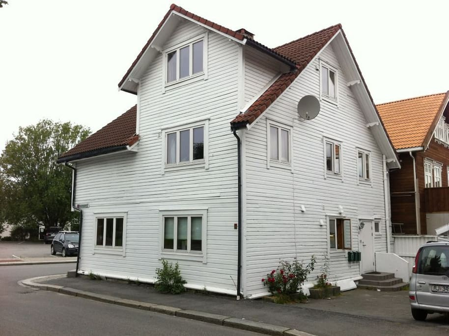 The apartment is located on the 1st floor of the house.