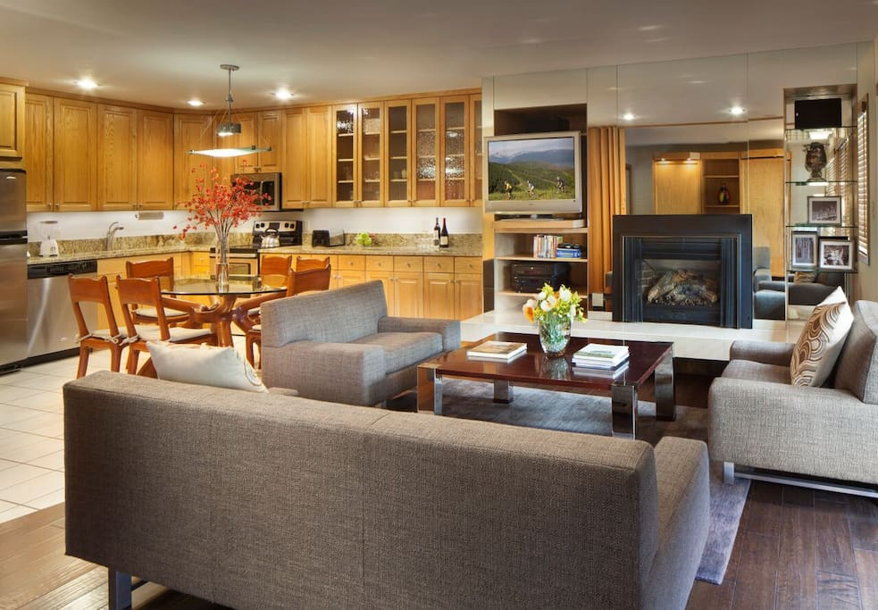 Enjoy a large spacious living area in all of our two bedrooms (Keep in mind all of our units differ)