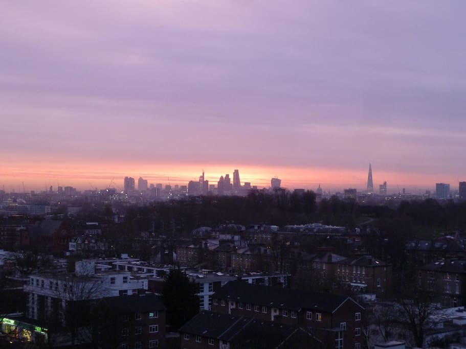 Winter Sunrise over London