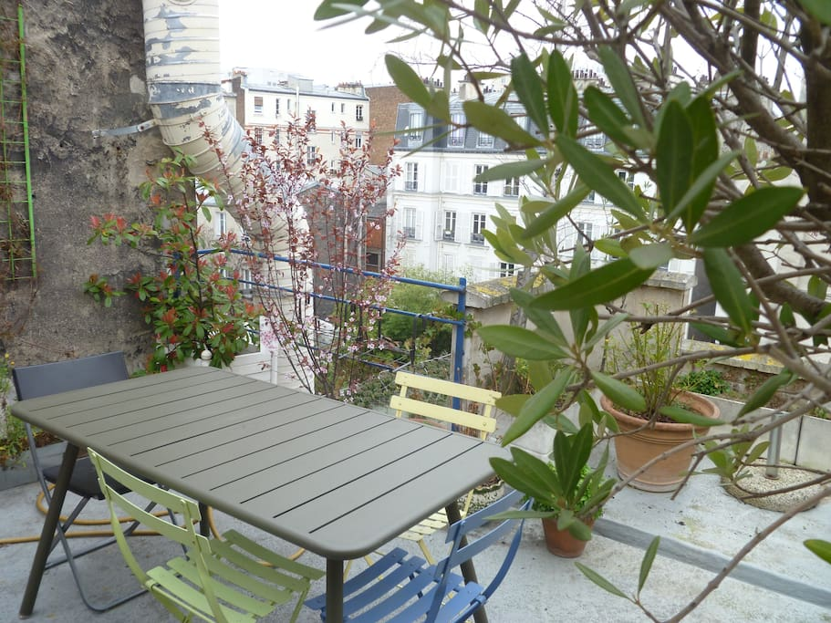 Bel appartement avec terrasse appartements louer for Appartement paris avec terrasse