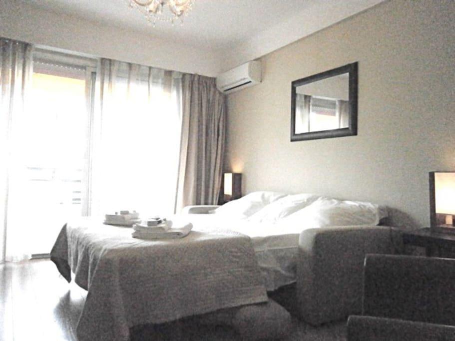 Bed prepared: très bon couchage(matelas Simmons)