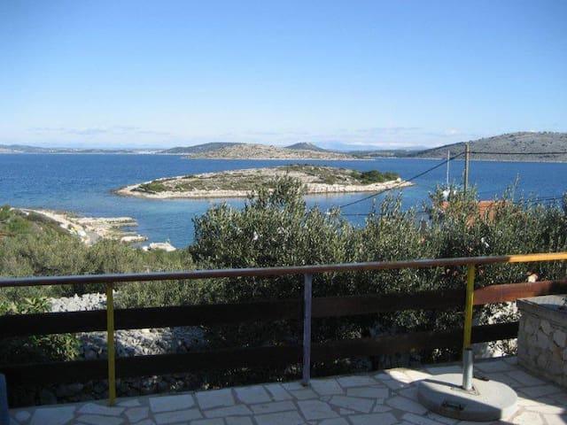 Island Kaprije amazing view at sea and islands