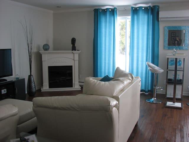 Superbe appartement avec spa (jacuzzi) nature - Métabetchouan-Lac-à-la-Croix - Íbúð