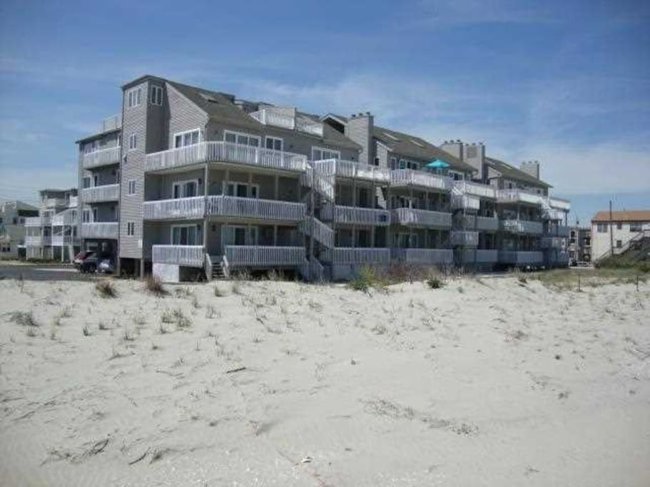 Alternate exterior view of condo from the beach