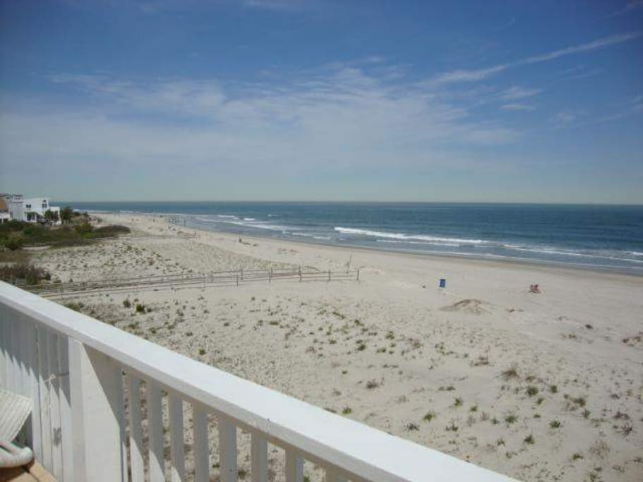 North view of beach from main deck