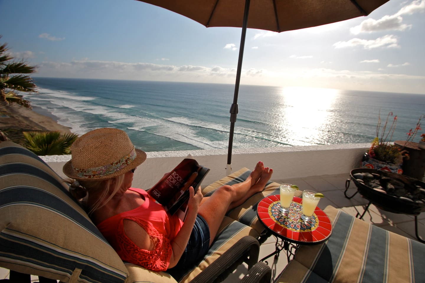 Afternoon relaxing with beautiful coastal views is what our place is all about.