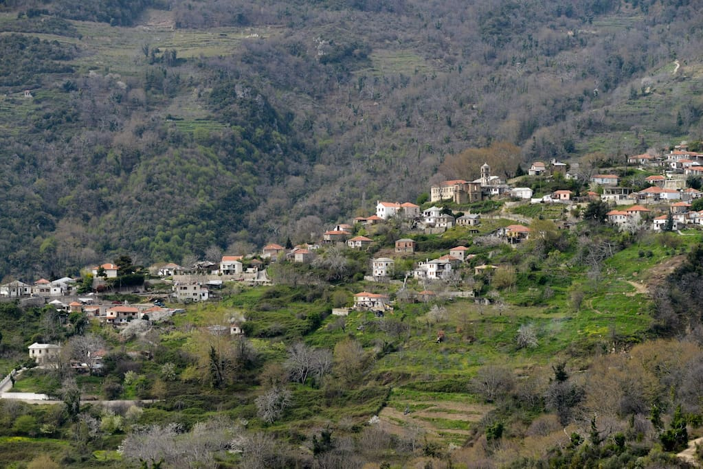 View of Drakia Village