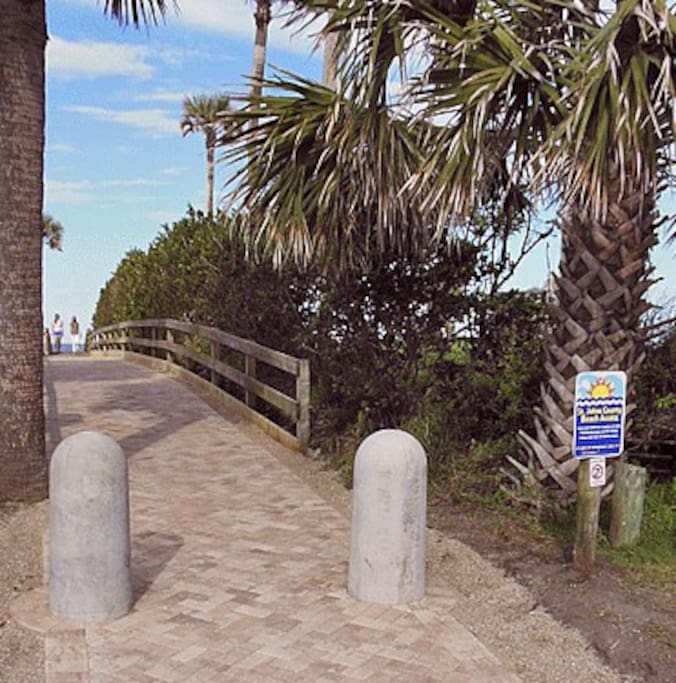 Fabulous remodel of public beach access. You can take a short walk to it only minutes away from our house. Sunrises are beautiful. Fishing can be fabulous in the fall.