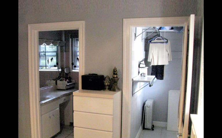Master bedroom closet and bathroom.