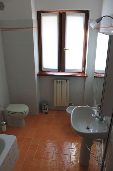 bagno riservato alla camera assegnata