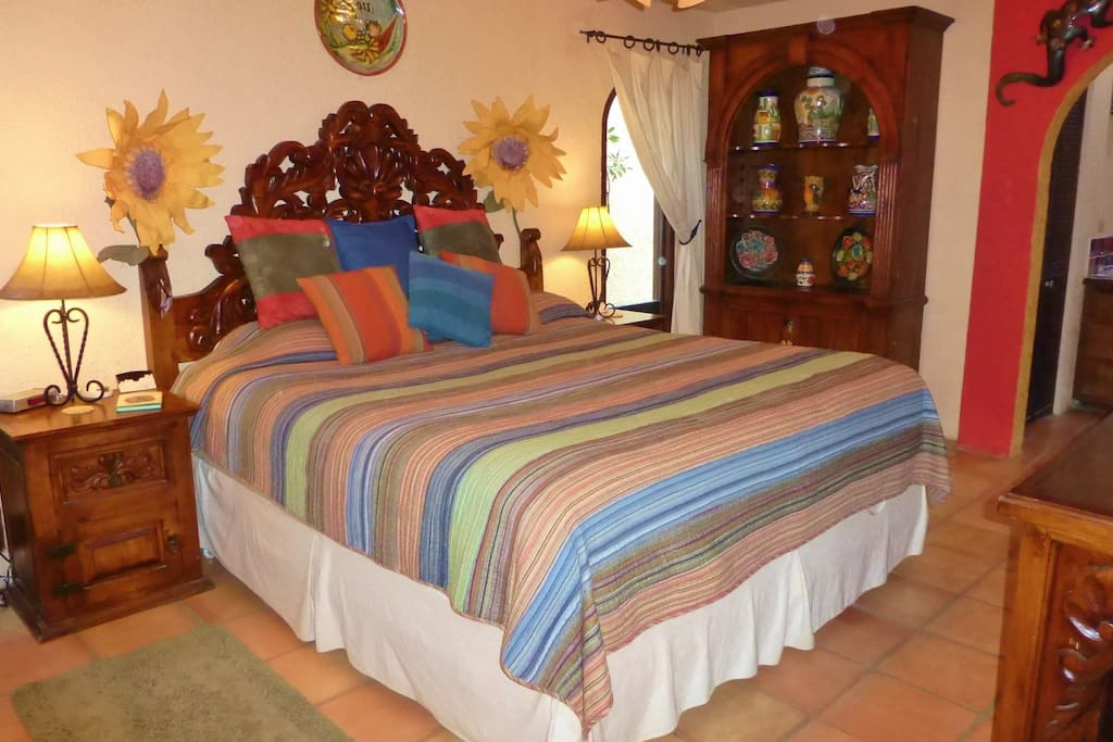 Each bedroom has a king bed, luxurious linens, TV, and private bathroom.