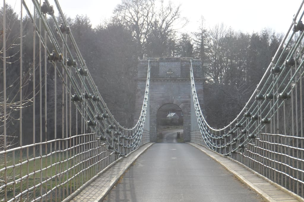 Beside our house is the awesome Union Chain Bridge spanning The River Tweed between England and Scotland.