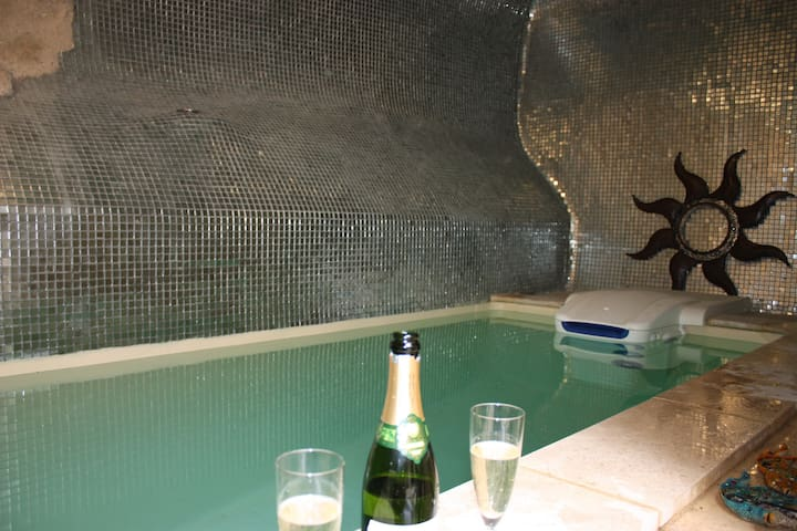 Plunge pool  off the courtyard