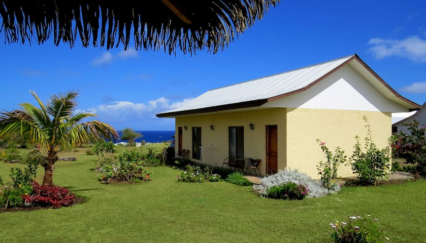 Cabaña equipada con vista Océano, Isla de Pascua - Isla de Pascua - Houten huisje
