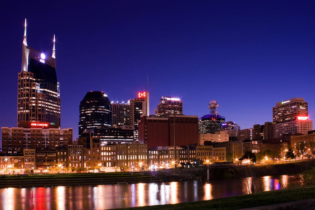Beautiful downtown Nashville
