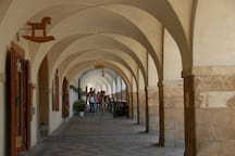My street is lined with these ancient archways [originally market stalls] now lined with outdoor / indoor restaurants.