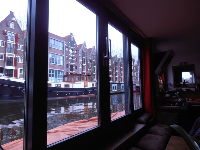 Awesome new houseboat in the centre, great views ! - Amsterdam