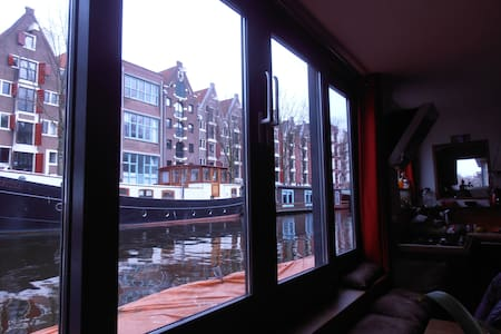Awesome new houseboat in the centre, great views ! - Amsterdam - Loď