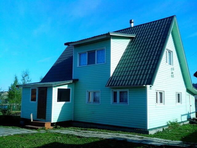 Дом 100м2 с баней в Никольском (25км от СПб)