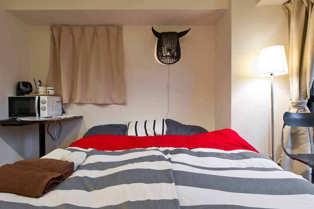 Stylish straw lamp shade shaped like a bull!