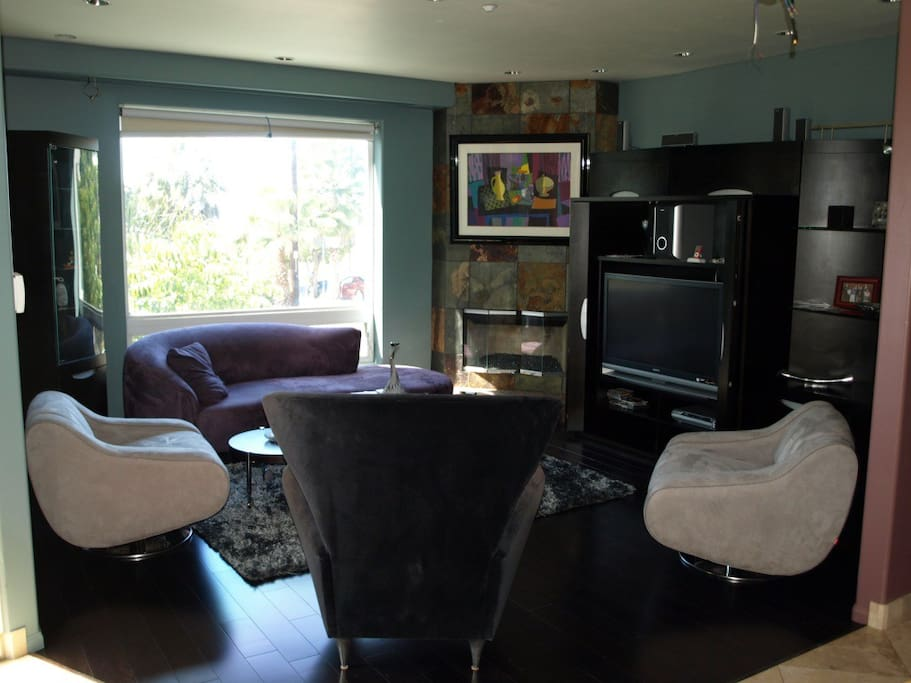 Common area living room with cable television